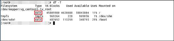 Linuxのファイルシステムの確認方法を教えてください。
